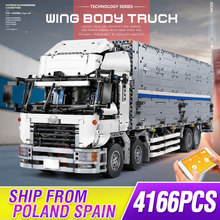 Bricks Toys Truck-Set Mould Building-Blocks Compatible 23008 King-App Wing Body-Container