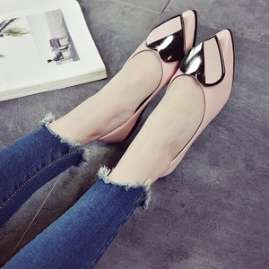 women shoes  Shallow mouth pointed flat shoes women's casual shoes women's flat with single shoes soft bottom peas shoes