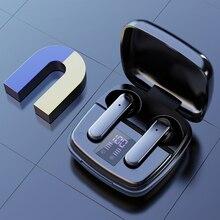 TWS Earphone Bluetooth Wireless Headset Waterproof Deep Bass Earbuds True Wireless Stereo Headphone With Mic Sport TouchEarphone