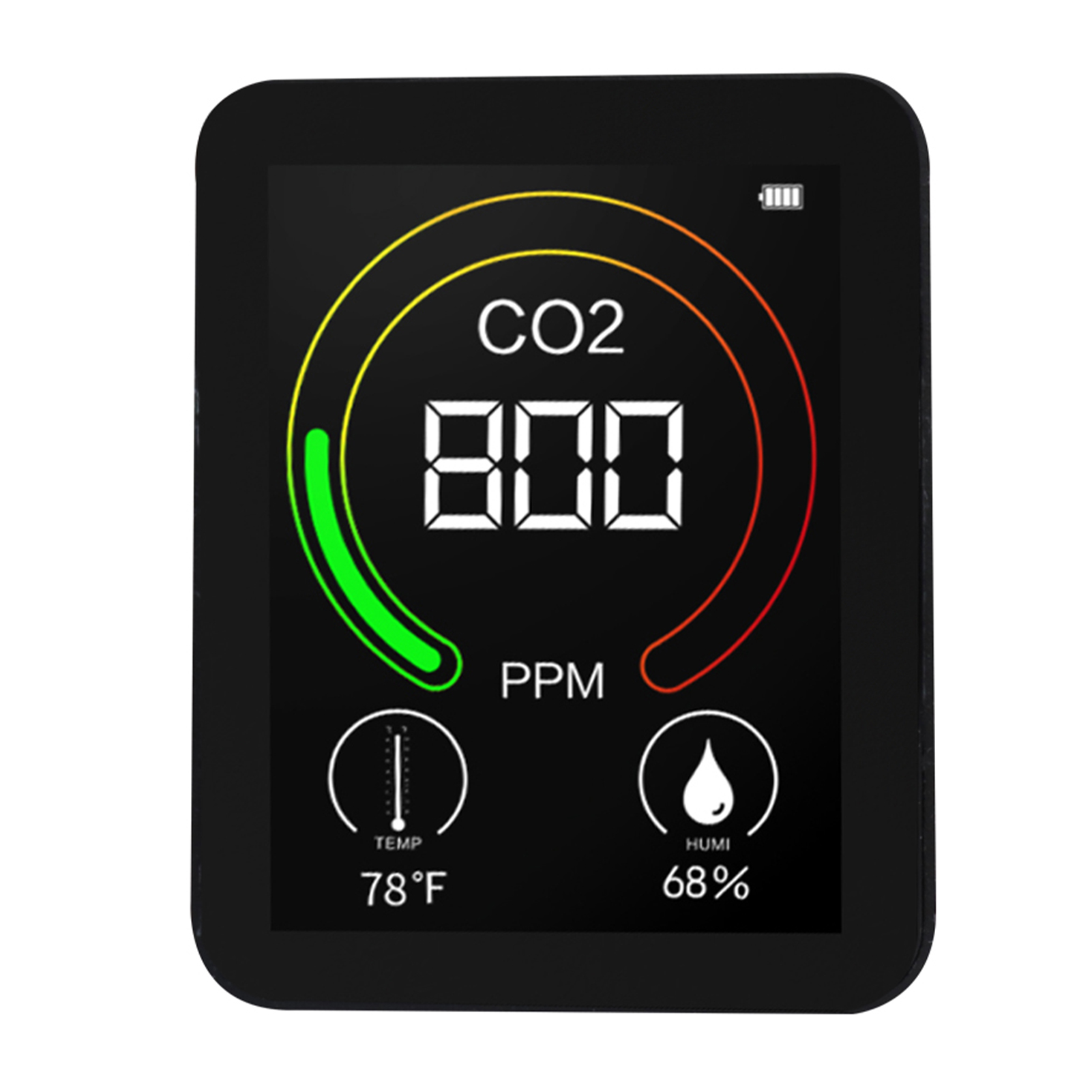 Analytical Carbon Dioxide Meter Co2 Detector Temperature Humidity Air Quality Monitor Digital Co2 Detector Air Analyzer Accurate Tester Buy One Get One Free