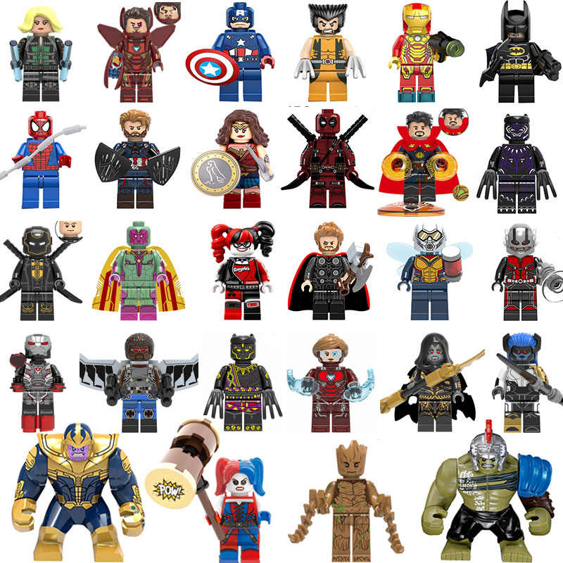 Marvel Compatible legoings Avengers Super héros Infinity War Thanos gantelet Thor fer araignée homme blocs de construction jouets figurines