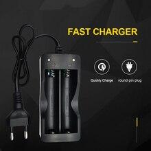 Battery Charger 18650 EU Plug 2 slots Smart Charging Li-ion