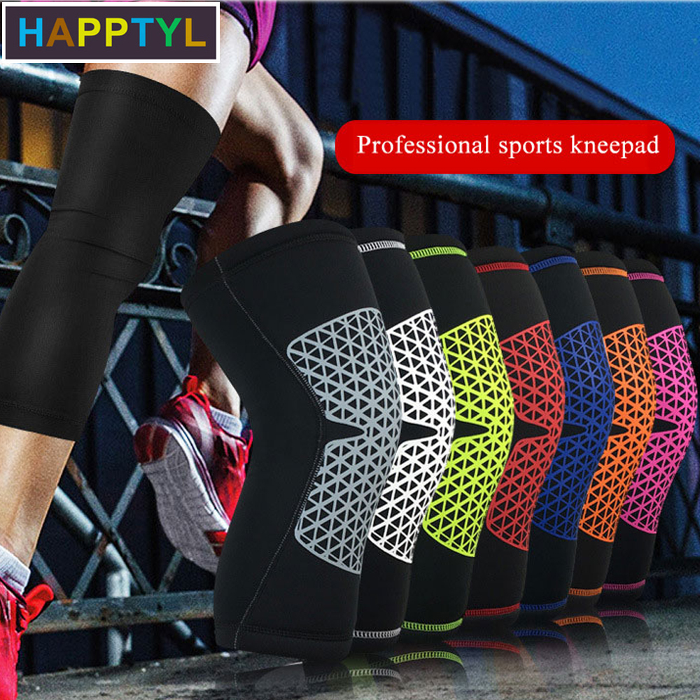 HAPPTYL 1Pcs Knee Support Brace Pads Combat Knee Sleeve - Sports Compression Knee Pad - Helps Stabilising And Recovery
