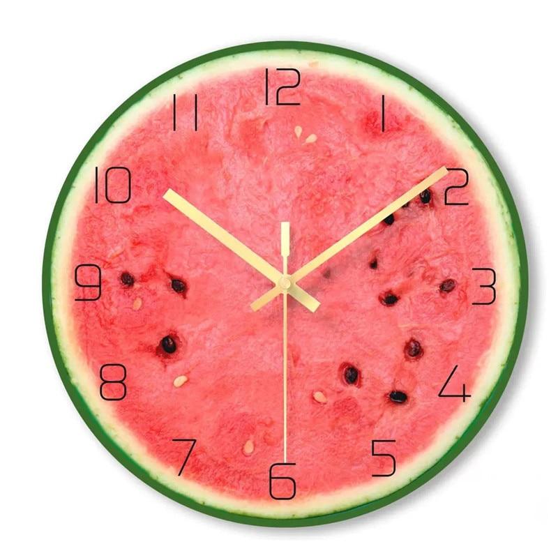 Creative Lemon Fruit Wall Clock Modern Kitchen Clock Watch ...