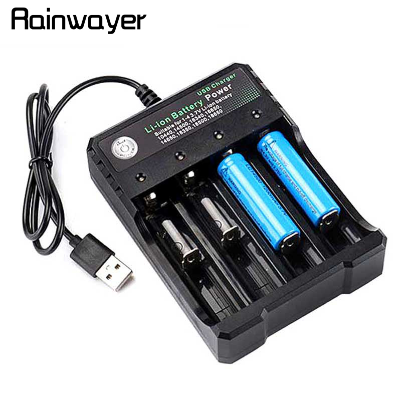 18650 Battery Charger Black 2 Slots AC 110V 220V Dual For 18650 Charging 3.7V Rechargeable Lithium Battery