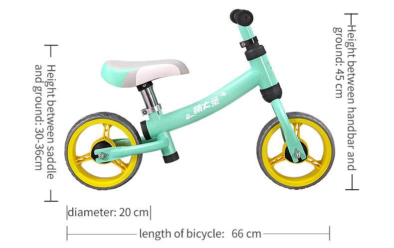H1617da07d39a42e59791dabb2b304c2cP High Carbon Children Balance Bike Walker Kids Ride on Toy Gift for 1.5-3Years Children for Learning Walk Scooter 8inch Kids Bike