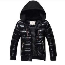 Boys winter jacket Cotton wadded kids snowsuit Jacket Hooded Thicken Warm Jacket Boy childrens outerwear coat for teenag