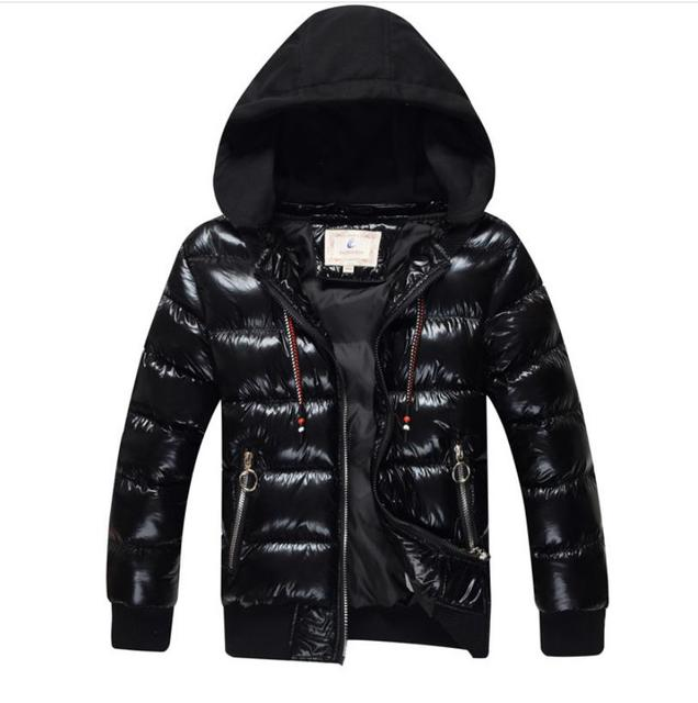 Boys winter jacket Cotton wadded kids snowsuit Jacket Hooded Thicken Warm Jacket Boy childrens outerwear coat for teenag