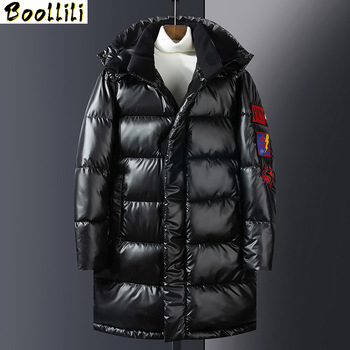 High Quality Winter Jacket Men Hooded Thicken Warm Parka Coat Casual Slim Mens Overcoat Long Slim Cotton padded jacket M-3XL