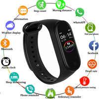M4 pulsera inteligente rastreador de actividad Fitness Monitor de ritmo cardíaco rastreador de sangre presión pulsera llamada mensaje Correa con recordatorio
