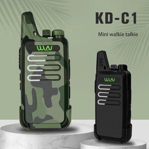 Image 2 - WLN KDC1 מיני כף יד ווקי טוקי KD C1 FM משדר שתי דרך רדיו חזיר Communicator KD C1 רדיו תחנת אלחוטי אינטרקום