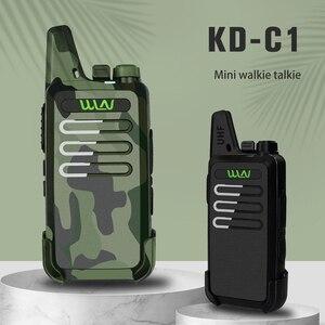 Image 2 - WLN KDC1 جهاز لاسلكي محمول صغير KD C1 FM جهاز الإرسال والاستقبال اتجاهين راديو هام التواصل KD C1 محطة راديو جهاز اتصال داخلي لاسلكي