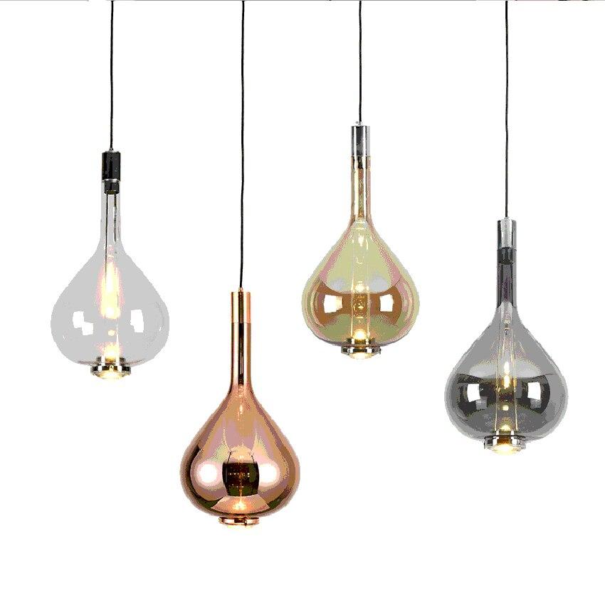 Design moderno di Arte Colorful LED Lampade a sospensione In Vetro LOFT di Illuminazione Lungo la Linea Lampada a Sospensione Ristorante Deco Coperta Light Fixtures - 3