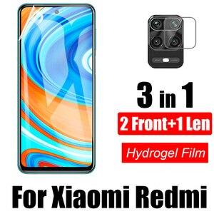 3-в-1 для Xiaomi Redmi Note 9 9Pro Max 9S 8 8Pro 8T 8A мягкие гидрогелевые пленки для Xiaomi Redmi K30 Pro K30 мягкое стекло для объектива камеры