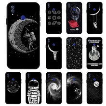 3D DIY Painted Black Case For Huawei Honor 10i 9 10 Lite V10 V20 7X 8C 6A Cases Space Moon Cover for V9 Play