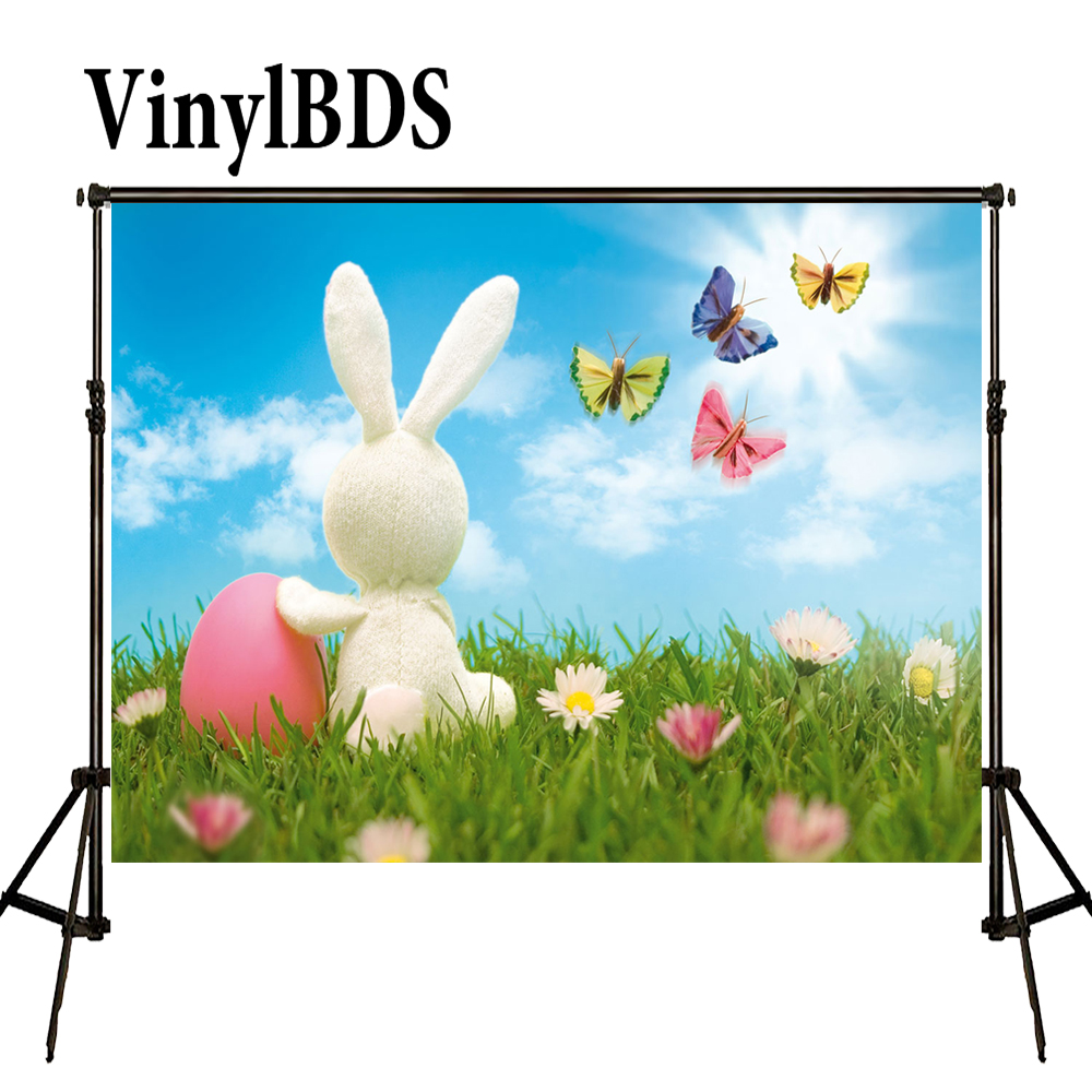 VinylBDS Easter Rubbit Backgrounds Spring Backdrops Photography Butterfly Children Photography Studio Props Kid Photo Prop|studio props|photography studio props|child photography studios - title=