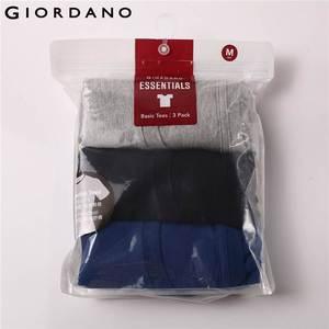 Image 3 - Giordano mężczyźni T koszula bawełniana z krótkim rękawem 3 pack Tshirt jednolita koszulka letnia oddychająca męska bluzka odzież Camiseta Masculina 01245504