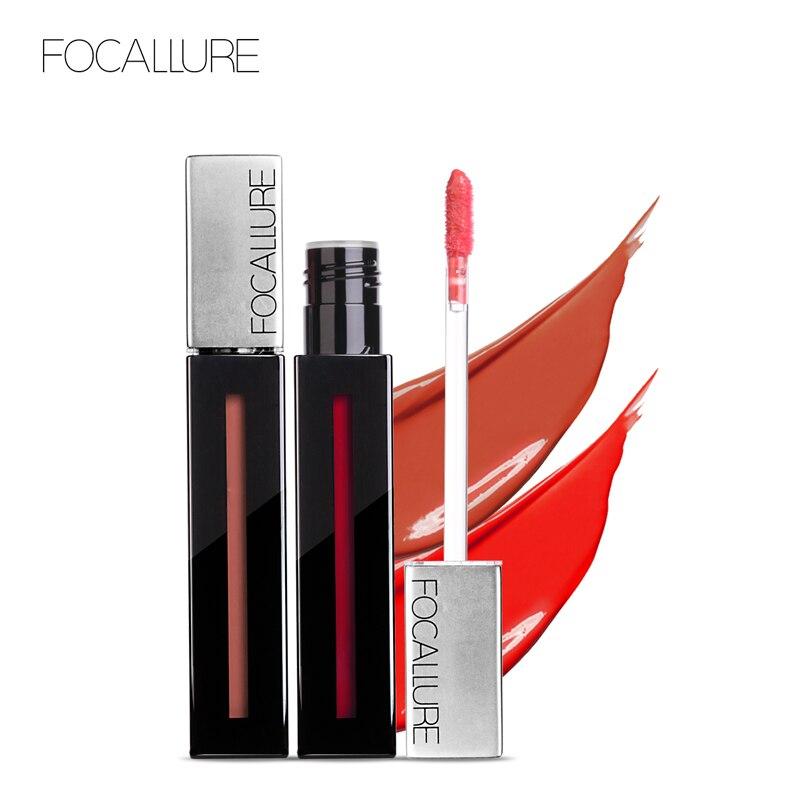FOCALLURE Liquid Matte Lip Gloss Waterproof Smooth High Quality Lipgloss Moisturizing Long Lasting Sexy Beauty Lip Makeup