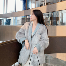 Fur Coat Fox-Fur Integrated Long Fashion Women's Autumn Haining And Special-Offer Off-Season