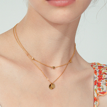 ZUUZ stainless steel boho multi layer necklace for women Party birthday wear jewellery