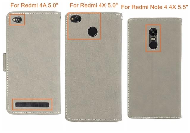 Pour Xiaomi Redmi Note 4 4X étui portefeuille tenir en cuir PU étui à rabat pour Redmi 4X Note 4 4X couverture pour Redmi 4A Note 4 étuis de téléphone