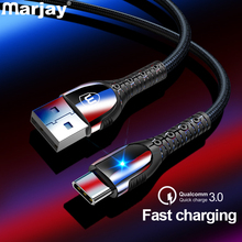 Marjay USB Type C Cable For Samsung S8 S9 S10 A50 A70 3A Fast Charging Xiaomi Redmi Note 7 Mobile Phone Type-C
