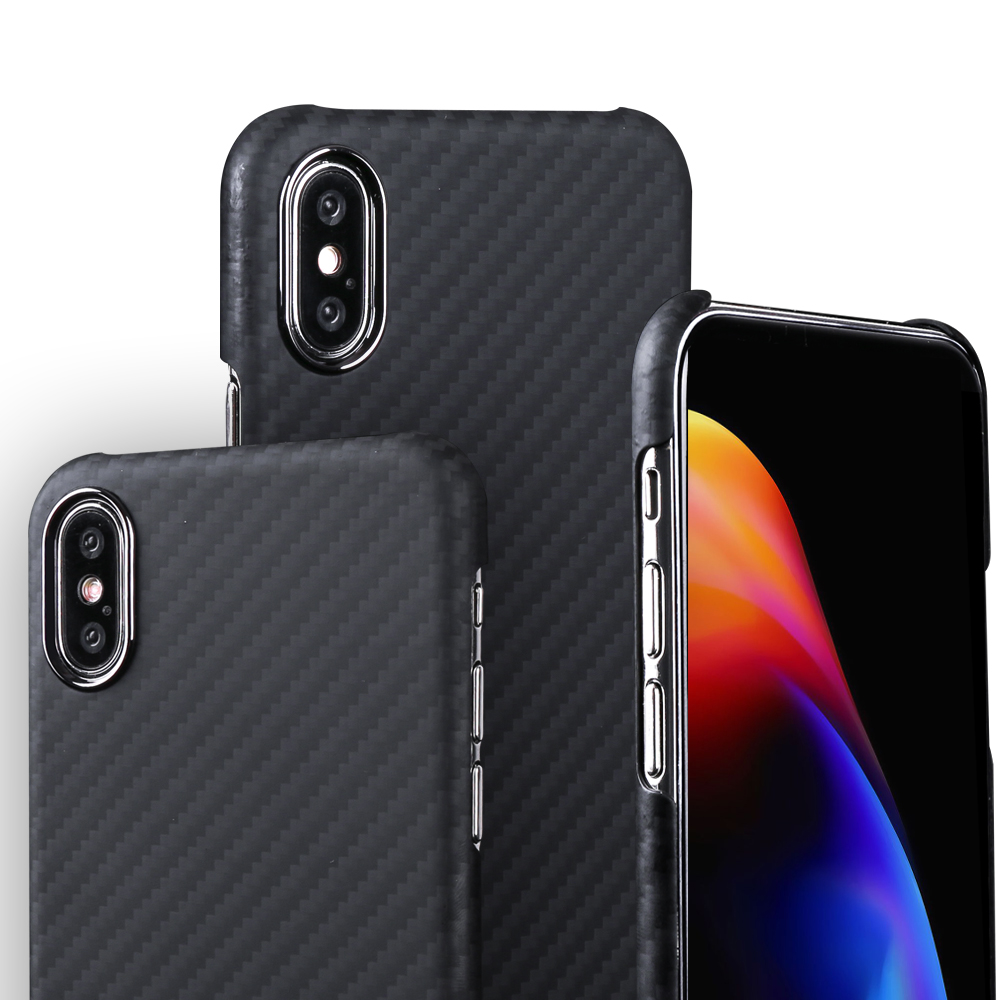 Carbon Fiber Case for iPhone 11 pro max 7 8 plus XR X XS MAX Ultra-thin Hard Business Cover Case Protective Aramid Fiber Cover