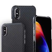 In Fibra di Carbonio di Caso per Il Iphone 11 Pro Max 7 8 Più Xr X Xs Max Ultra-Sottile Duro Affari caso Della Copertura di Protezione Copertura in Fibra di Aramide