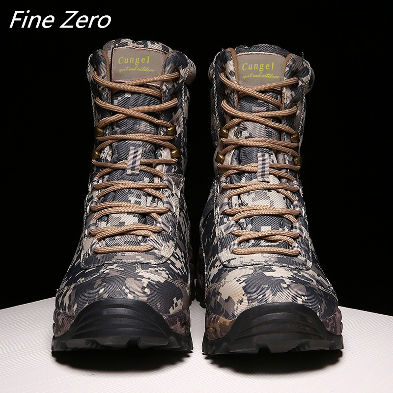 Military Tactical Mens Boots Special Force Waterproof Desert Combat Ankle Boot Army Work Shoes High Quality Men Outdoor Sneakers|Work & Safety Boots|   - AliExpress