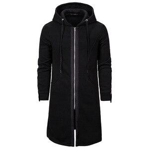 2019 Side Zipper Patchwork Hoodies Mens Casual Clothing men hoodies and sweatshirts assasins creed sudadera hombre(China)