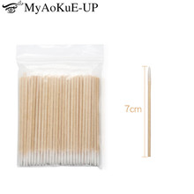 10000pcs Disposable Ultra-small Cotton Swab Lint Free Micro Brushes Wood Cotton Buds Swabs Eyelash Extension Glue Removing Tools