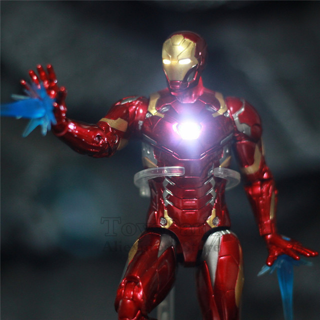 Avengers Civil War Iron Man Mark 43 Action Figure with Lights 6inch 2