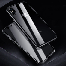 Роскошный чехол для Apple iPhone XS MAX, XS, X, XR, 7, 8 Plus, 360, чехол с полной защитой из закаленного стекла, алюминиевый металлический чехол