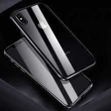 Caso di lusso Per il iPhone di Apple XS MAX XS X XR 7 8 Più Il 360 di Caso di Protezione Completa Magnetico In Vetro Temperato di alluminio del Metallo Della Copertura Della Cassa