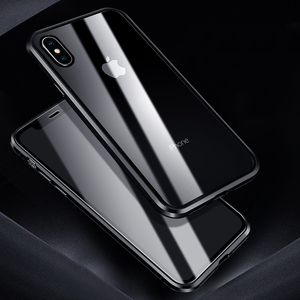Image 1 - Luxury Case For Apple iPhone XS MAX XS X XR 7 8 Plus 360 Full Protection Case Magnetic Tempered Glass Aluminum Metal Case Cover