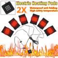 Грелка для одежды с USB-зарядкой, 5 В, грелка из углеродного волокна, грелка для жилета, куртки, 6 подушек