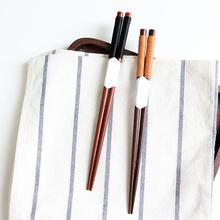 1 Pair Japanese Style Wooden Chopsticks 22.5cm Portable Reusable Food sticks Chop Sticks Chinese palillos Chinese food Tie line 10 pair japanese chopsticks alloy non slip sushi chop sticks set gift l513