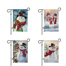 30*45cm Christmas Hanging Flags Banners Santa Claus Snowman Window Pendant Wall Sticker 2020 New Year Party DIY Decoration