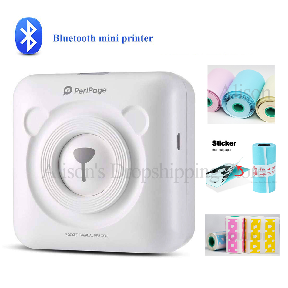 GOOJPRT A6 PeriPage Mini Portable Bluetooth Wireless Paper Photo Printer Pocket Thermal Printing USB Connection Impresoras Fotos