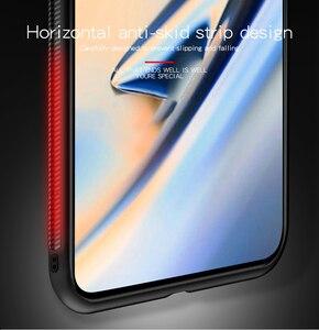 Image 4 - PINWUYO étui en cuir pour Oneplus 7 étui tresse Design tissu souple PC dur protection coque de téléphone OnePlus 7 Pro couverture