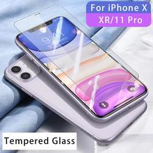 цена на For iPhone 11 Pro Max Tempered Glass For iPhone X XR Xs Protective Glass For iPhone 7 8 6 6S Plus 5 5S SE 2020 Screen Protector