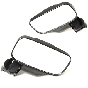 """Image 4 - UTV Rear View mirror Side Mirror mirror with 1.75""""/2"""" Roll Bar Cage fit For Polaris Ranger and RZR 4and XP 4 Perimeter 2"""" 2016+"""