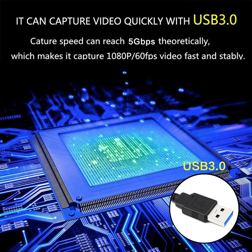 SSKYEE  Capture Card USB 60 Frame  1080P HD To USB 3.0 Video Capture Card Game Streaming Grabber Adapter For Live Strea 2