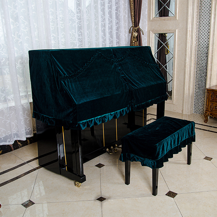153*37*70 Cm Classical Velvet Upright Piano Cover Dustproof Towel Piano Half Cover