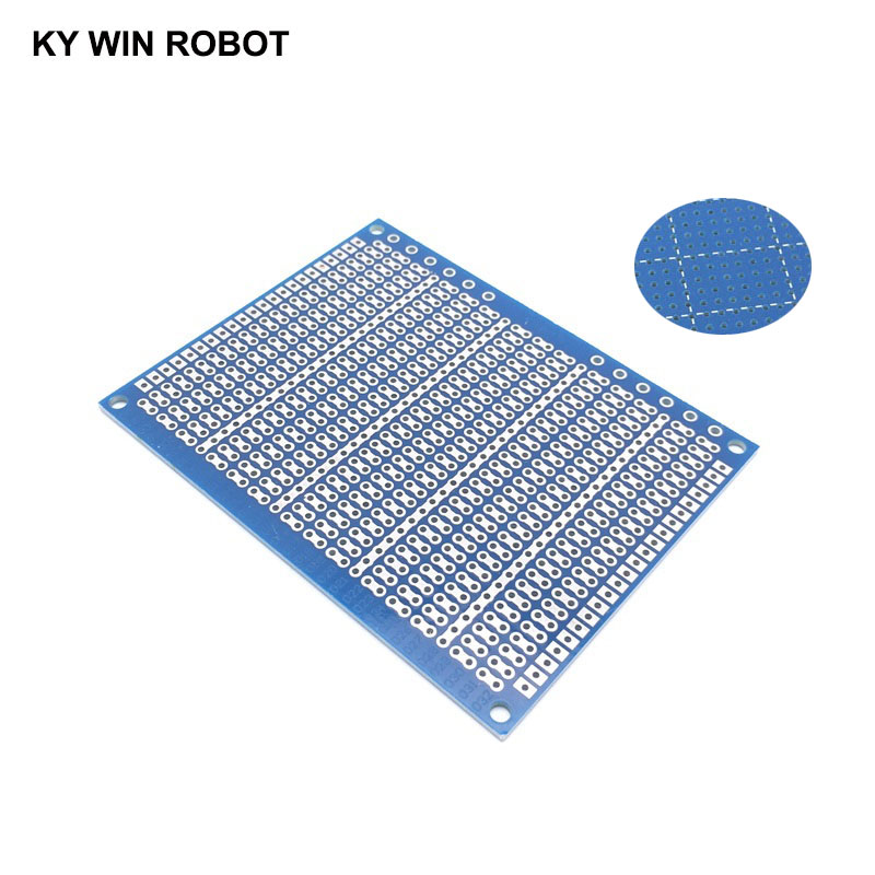 1pcs DIY 7*9CM Blue Single Side Prototype Paper PCB Universal Experiment Matrix Circuit Board 7x9CM For Arduino