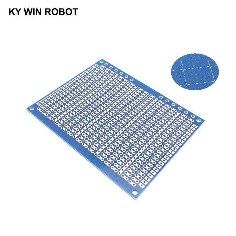 1pcs DIY 7*9CM Blue Single Side Prototype Paper PCB Universal Experiment Matrix Circuit Board 7x9CM For Arduino