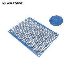 Placa de circuito universal protótipo pcb, 1 peça, diy 7*9cm, azul, único lado, placa de circuito 7x9cm para arduino