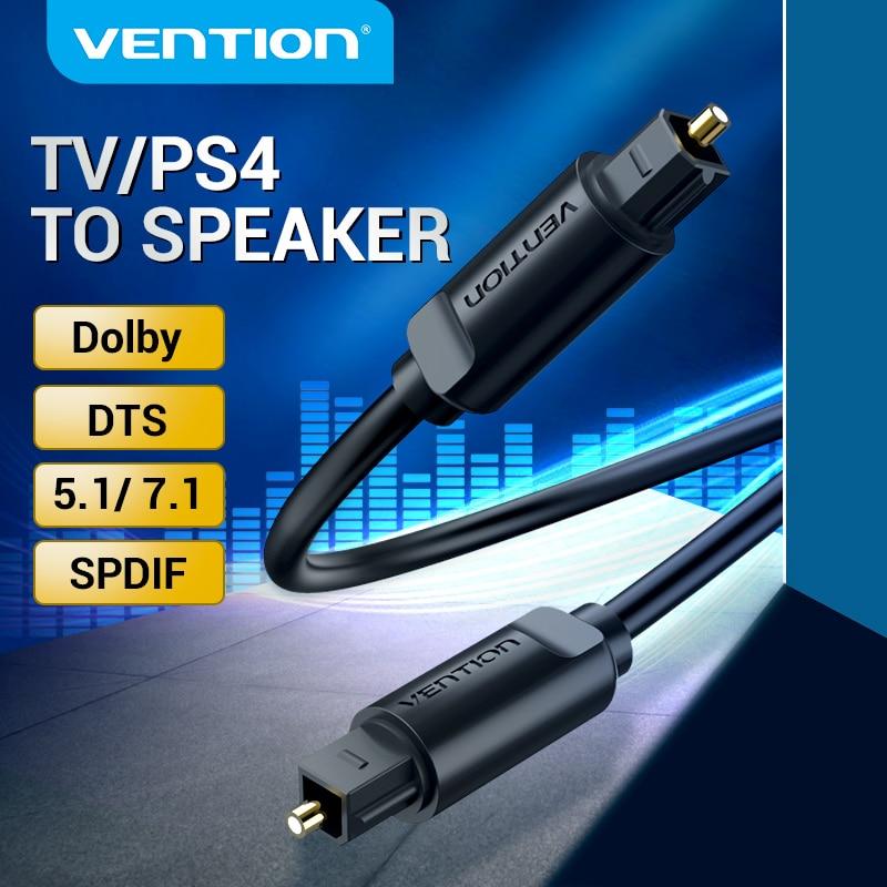 Vention цифровой оптический аудио кабель Toslink SPDIF кабель 1 м 5 м для усилителей Blu-Ray Xbox PS4 Саундбар оптический кабель коаксиальный