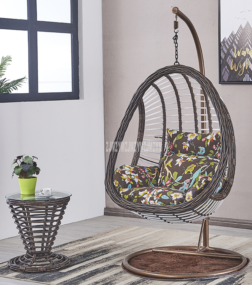 Swing Seat Rattan Weave Swing Hanging Chair With Handrail Home Garden Household Balcony Leisure Living Room Single Lazy Chair Buy At The Price Of 149 46 In Aliexpress Com Imall Com