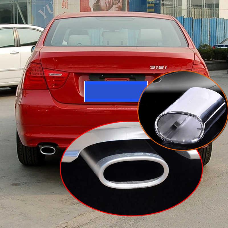 YXWEI/® For BMW E90 E91 E92 E93 318i 318d 320i Car Exhaust Muffler Tip Pipe Tail Trim Cover Auto Accessories Stainless Steel